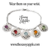 Sterling Silver Name Bracelet with Swarovski Birthstone