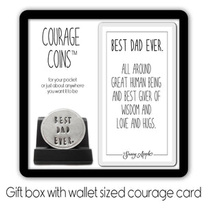 Best Dad Ever Courage Coin