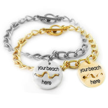 Load image into Gallery viewer, Beach Badge Chain Link Bracelet