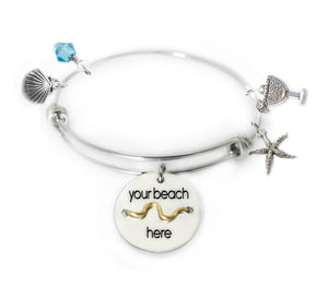 Beach Badge Expandable Bangle