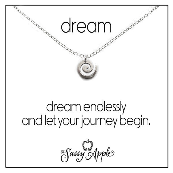 Dream - One Word Carded Necklace