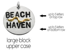 Load image into Gallery viewer, Silver or Gold Beach Badge Necklace - Mini