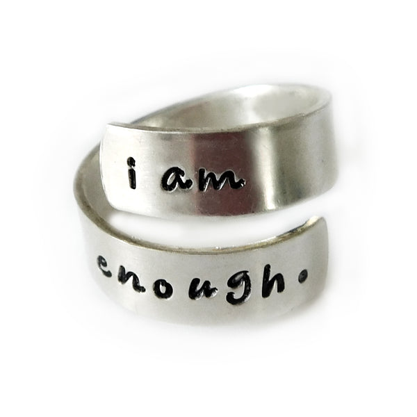 I Am Enough Sterling Silver Ring
