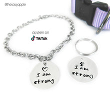 Load image into Gallery viewer, I Am Strong Pet and Person Pendants