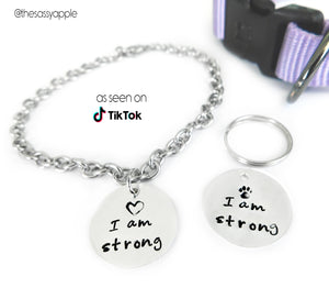 I Am Strong Pet and Person Pendants