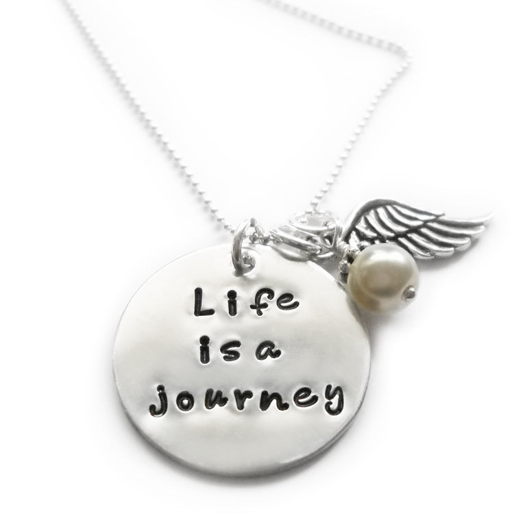 Life is a Journey Sterling Silver Necklace