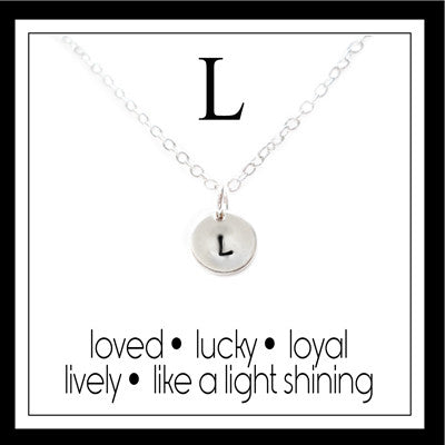 L - Alphabet Inspiring Necklace