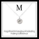 M - Alphabet Inspiring Necklace
