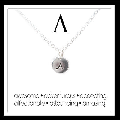 A - Alphabet Inspiring Necklace