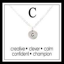 Load image into Gallery viewer, C - Alphabet Inspiring Necklace