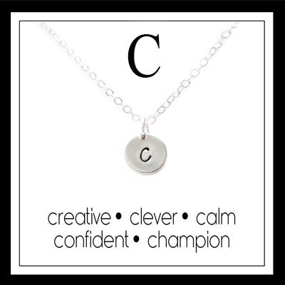 C - Alphabet Inspiring Necklace