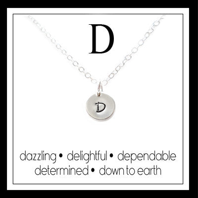 D - Alphabet Inspiring Necklace