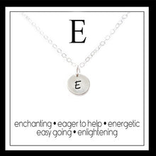 Load image into Gallery viewer, E - Alphabet Inspiring Necklace