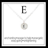 E - Alphabet Inspiring Necklace