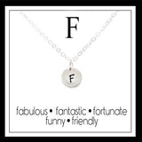 F - Alphabet Inspiring Necklace