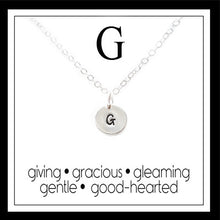 Load image into Gallery viewer, G - Alphabet Inspiring Necklace