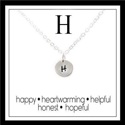 H - Alphabet Inspiring Necklace
