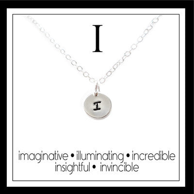 I - Alphabet Inspiring Necklace