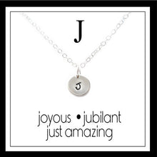 Load image into Gallery viewer, J - Alphabet Inspiring Necklace
