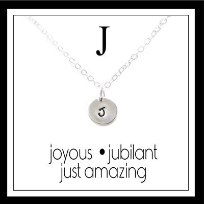 J - Alphabet Inspiring Necklace