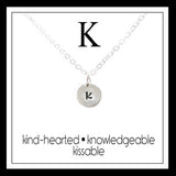 K - Alphabet Inspiring Necklace
