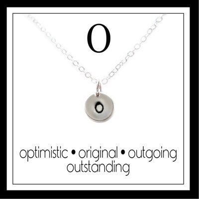 O - Alphabet Inspiring Necklace