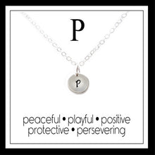 Load image into Gallery viewer, P - Alphabet Inspiring Necklace