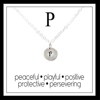 P - Alphabet Inspiring Necklace