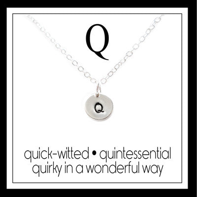 Q - Alphabet Inspiring Necklace