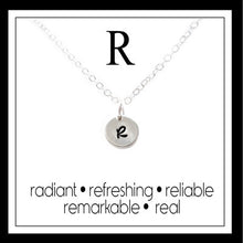 Load image into Gallery viewer, R - Alphabet Inspiring Necklace