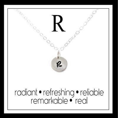 R - Alphabet Inspiring Necklace