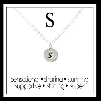 S - Alphabet Inspiring Necklace