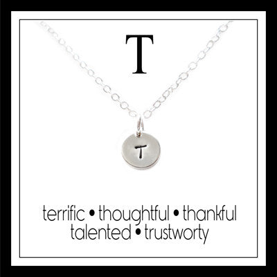 T - Alphabet Inspiring Necklace