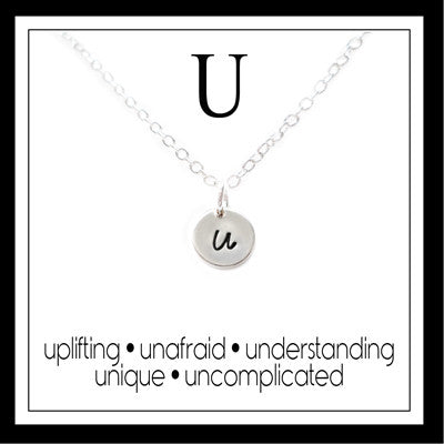 U - Alphabet Inspiring Necklace