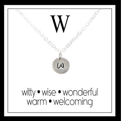 W - Alphabet Inspiring Necklace