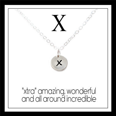 X - Alphabet Inspiring Necklace