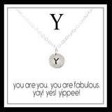 Y - Alphabet Inspiring Necklace