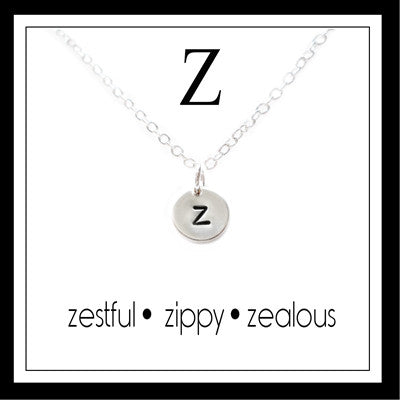 Z - Alphabet Inspiring Necklace