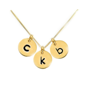 Silver or Gold Mini Monogram Necklace
