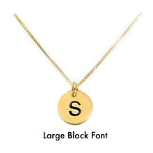 Load image into Gallery viewer, Silver or Gold Mini Monogram Necklace