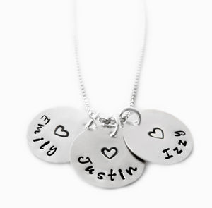 Sterling Silver Names Necklace
