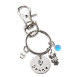 Personalized OWL Swivel Key Clasp with Sterling Silver Name