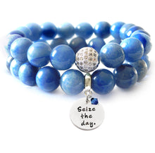 Load image into Gallery viewer, Blue Aventurine Beaded Beauty Bracelet