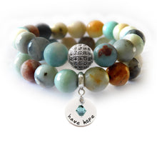 Load image into Gallery viewer, Black Gold Amazonite Beaded Beauty Bracelet