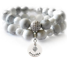 Load image into Gallery viewer, White Howlite Beaded Beauty Bracelet