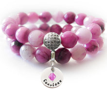 Load image into Gallery viewer, Mauve Malaysian Jade Beaded Beauty Bracelet