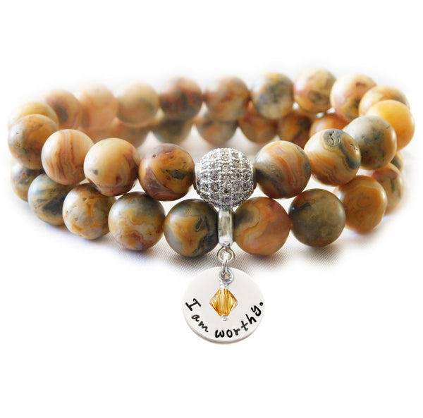 Crazy Lace Agate Natural Beaded Beauty Bracelet