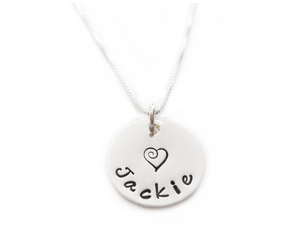 Simple Name Sterling Silver Necklace