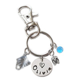 Personalized STINGRAY Swivel Key Clasp with Sterling Silver Name