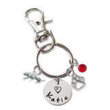Personalized TIGER Swivel Key Clasp with Sterling Silver Name